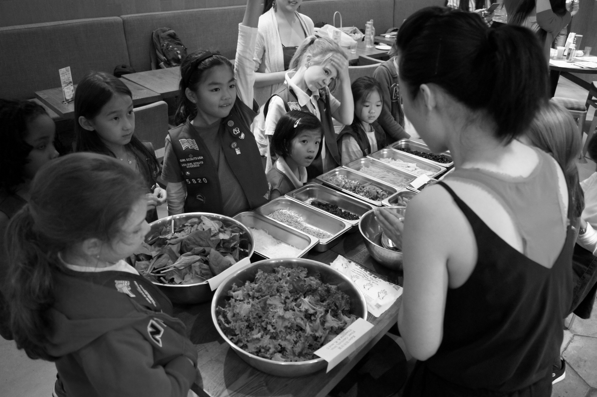 Lucy Luo with Girl Scouts